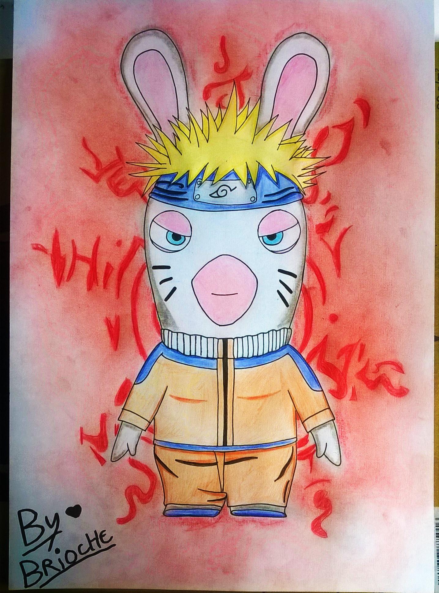 Dessin Lapin Crétin Naruto de BridaKagamiku