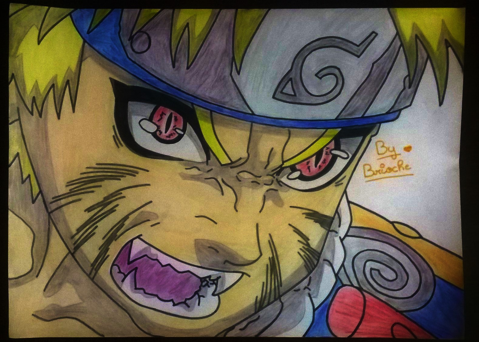 Dessin Naruto en mode Kyubi de BridaKagamiku