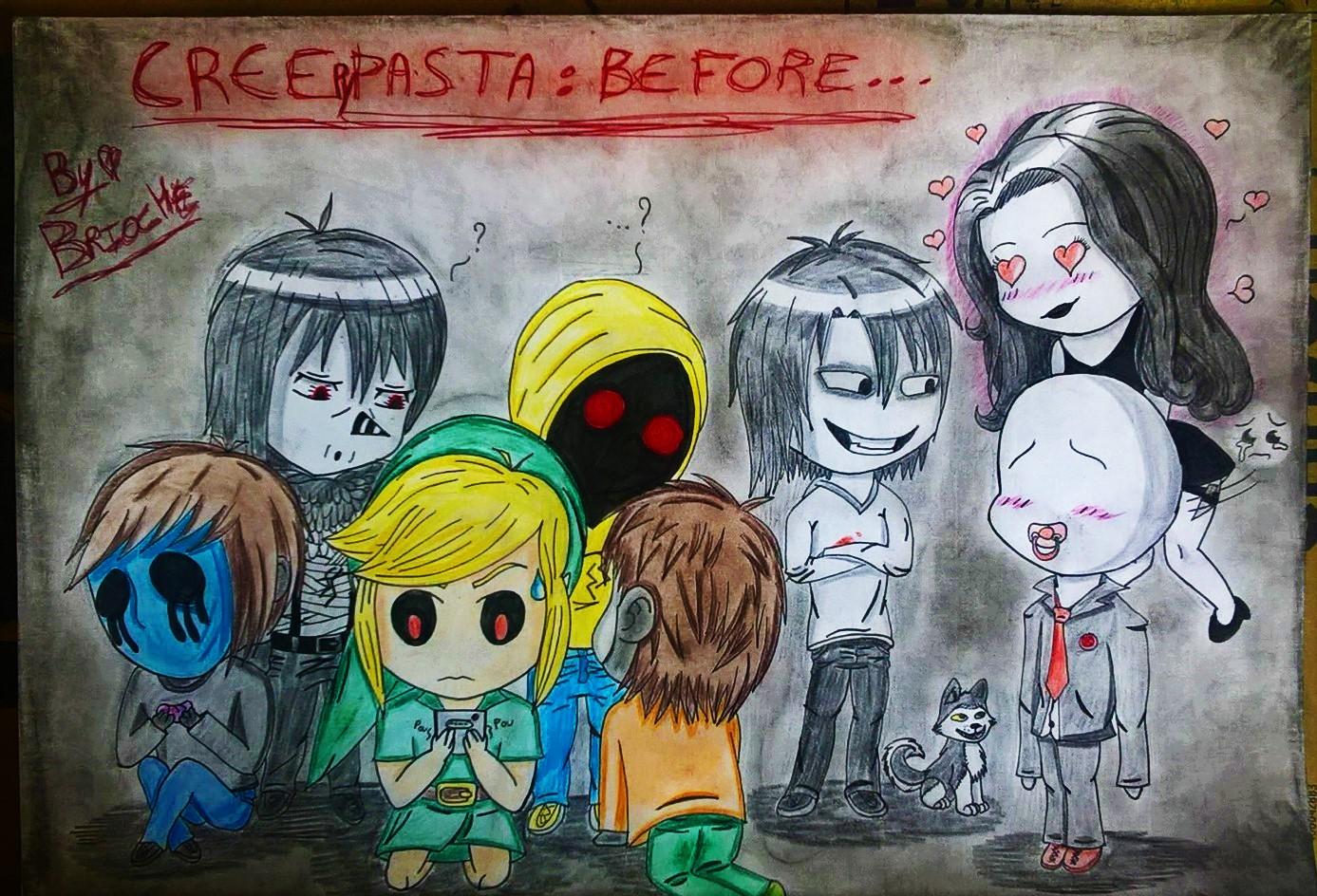 Dessin Personnages de Creepypasta Chibi de BridaKagamiku