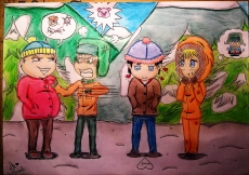 Dessin South Park Chibi de BridaKagamiku