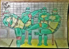 Dessin Tortues Ninja de BridaKagamiku