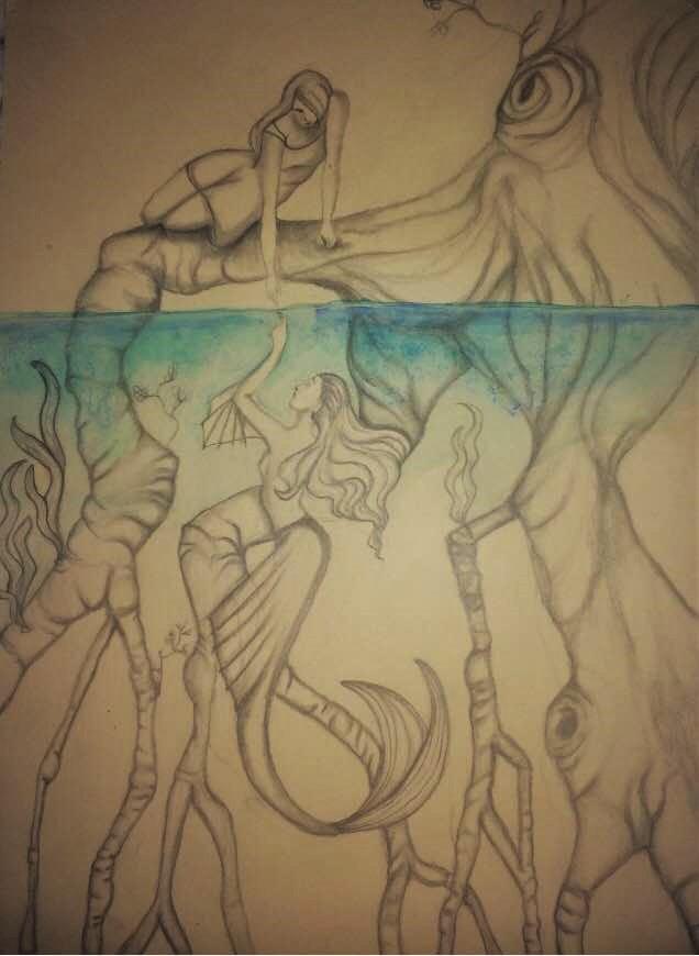 Dessin Reflet d'une sirène de ZaynabRami
