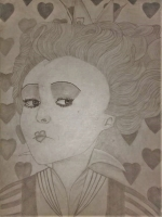 Dessin La reine de Coeur de ZaynabRami