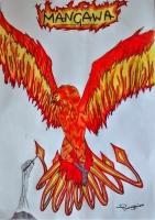 Dessin La renaissance du Phoenix de Elrick