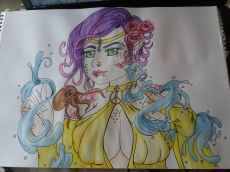 Dessin Mermaid and Octopus de Sandhime