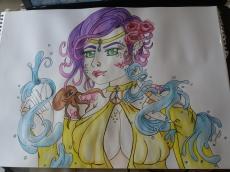 Dessin Mermaid and Octopus de Sandhime