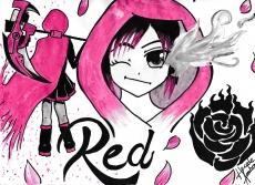 Dessin Red RWBY de Sandhime
