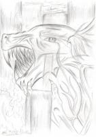 Dessin Le dragon en colère de EtoileSombre