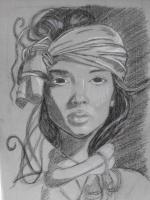 Dessin Femme 2 de LafeCrayonneuse