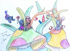 Dessin Tea time a wonderland de Erhena