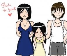 Dessin Leena petite fille et ses parents de Emethyste