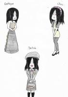 Dessin Leena Style Gothique, Chic et British de Emethyste