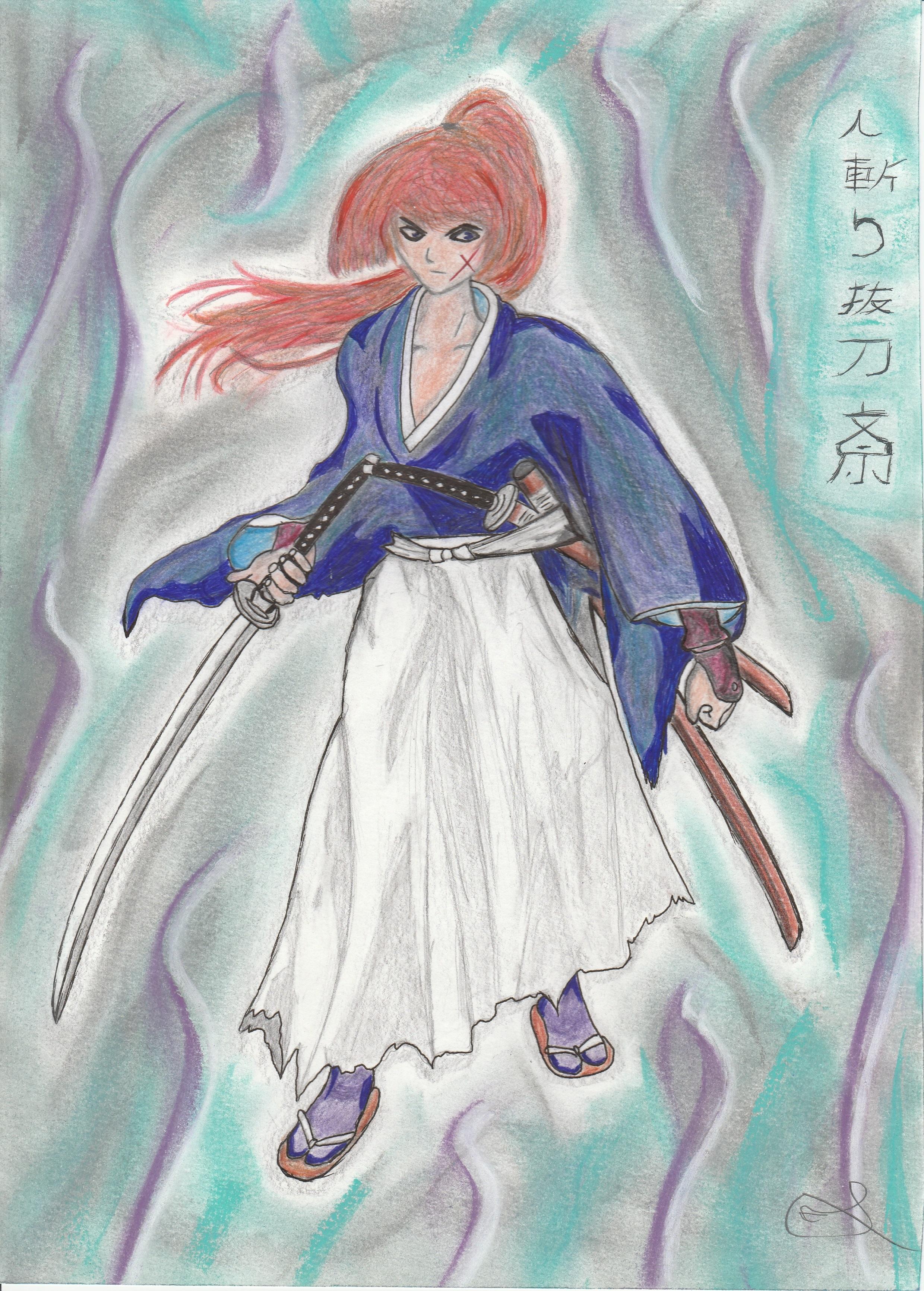 Dessin Hitokiri Battosai de Nimimura