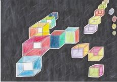 Dessin Cubes de Nimimura
