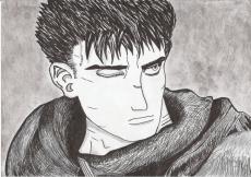 Dessin Guts (Berserk) de Nimimura