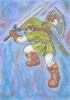 Dessin Link The Legend of Zelda Ocarina of Time de Nimimura
