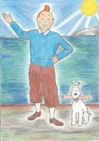Dessin Tintin 3 de Nimimura