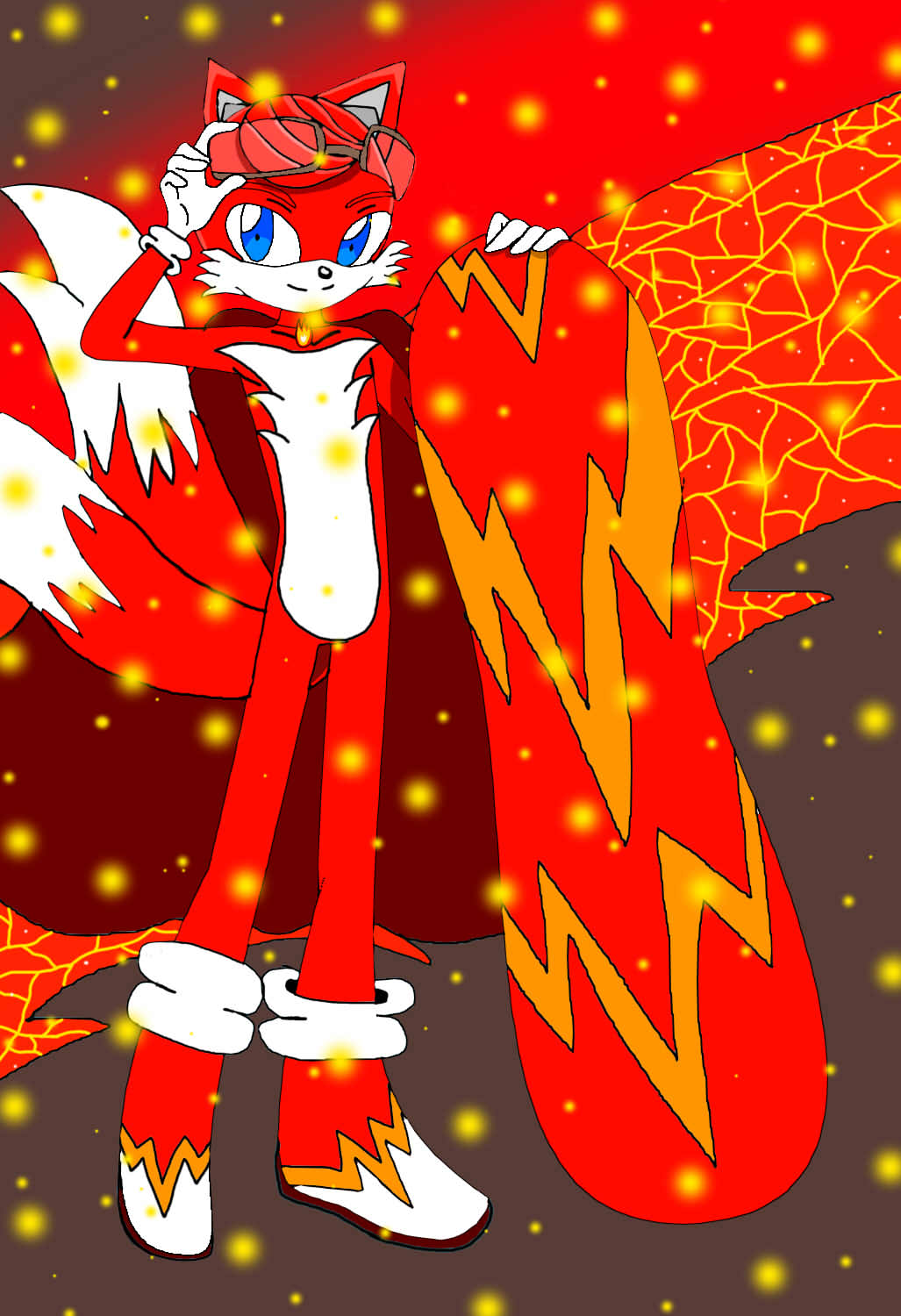 Dessin Red want to surf de Red_the_fox