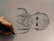Dessin Portrait d'un bébé de Otsaku