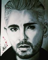 Dessin Bill Kaulitz Portrait de Kdraw