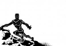 Dessin Black panther de Salome