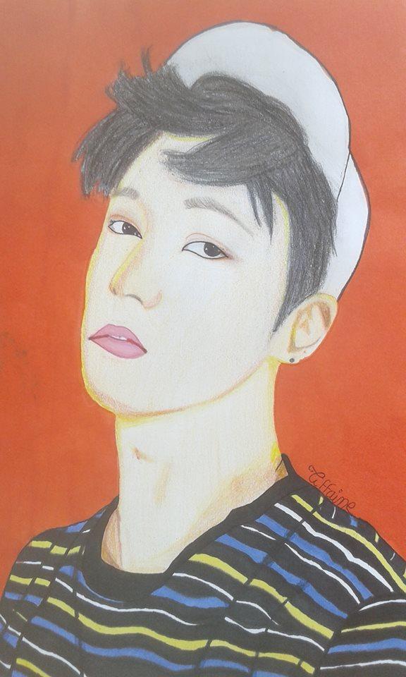 Dessin EXO Lucky One   Lay de ZhoumiKun