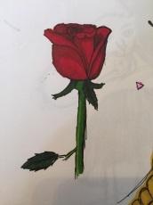 Dessin Test promarkers: Rose de Niagara