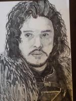 Dessin Jon Snow de Noragra