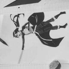 Dessin Kirito GGO de Erizu