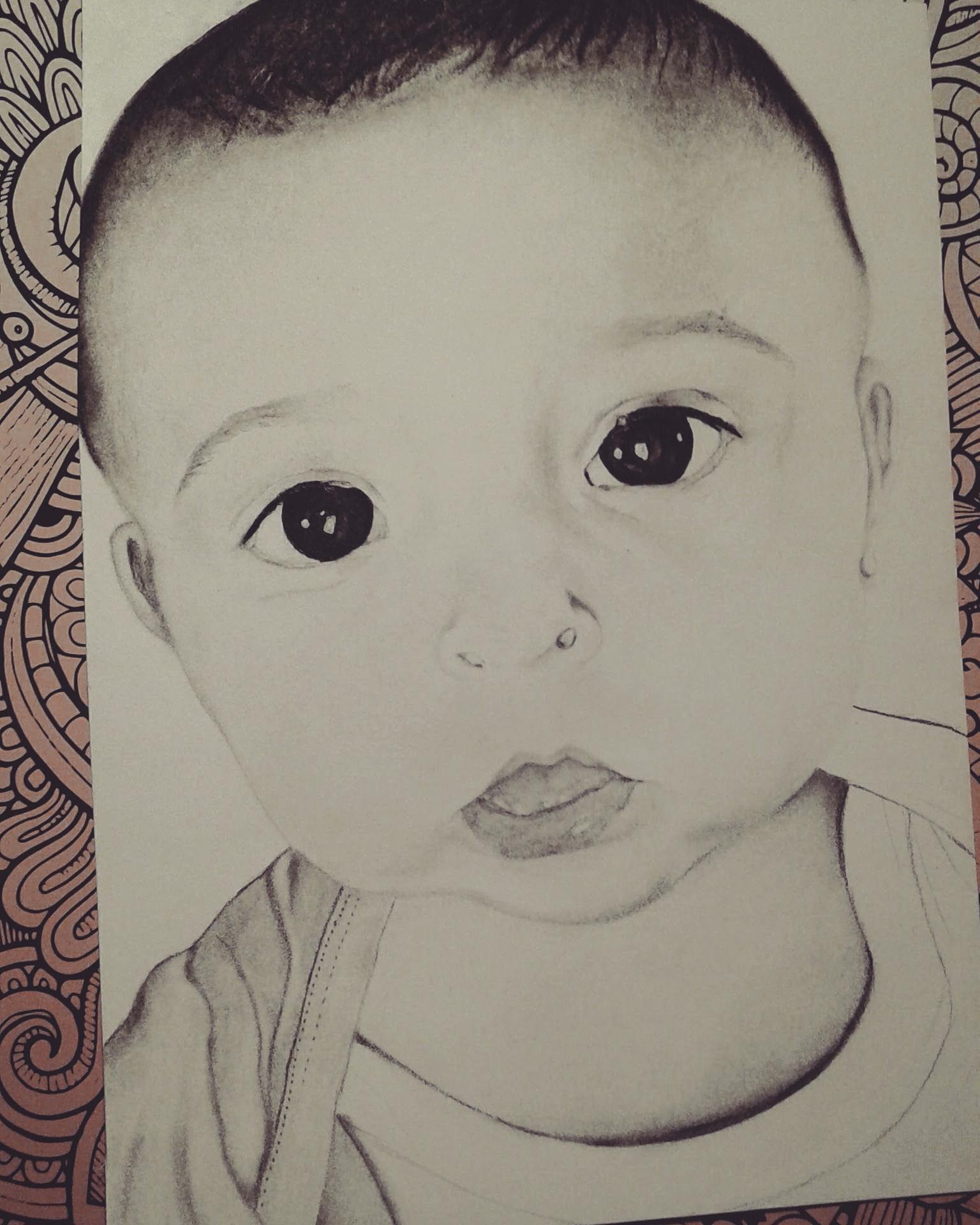Dessin Portrait bébé de Artem