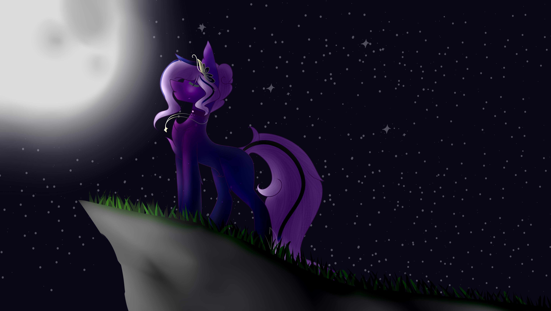 Dessin La Chanteuse Au Claire de Lune de DemoiselleFaucheuse