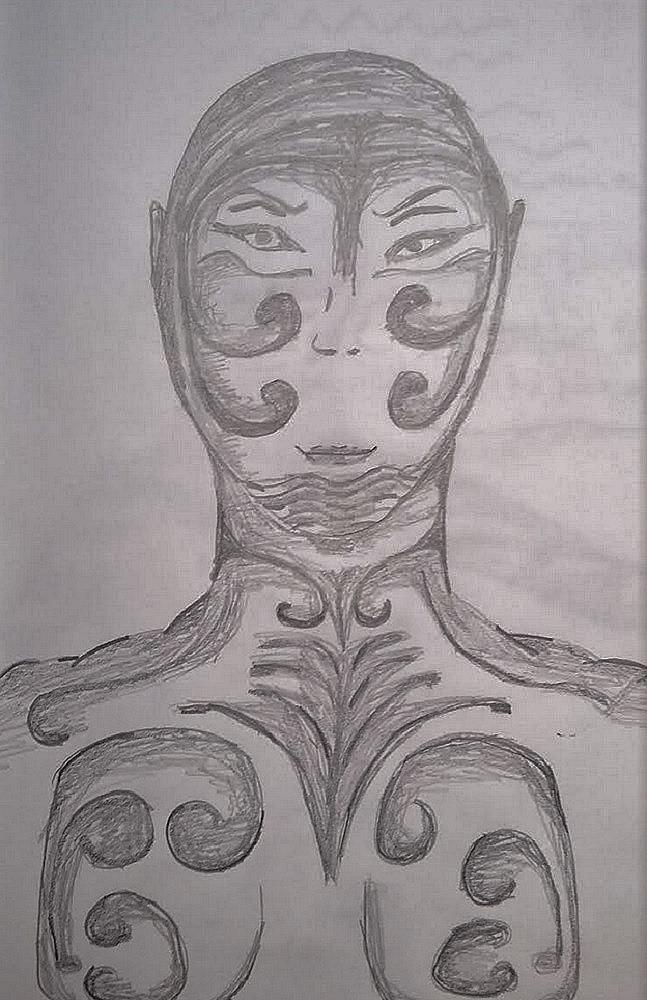 Dessin Homme extraterrestre tatoué de Lola27