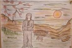 Dessin Le coucher de soleil du sorcier de Lola27