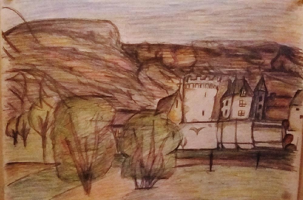 Dessin Village de montagne de Lola27