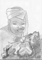 Dessin Belle femme noire de Cassy