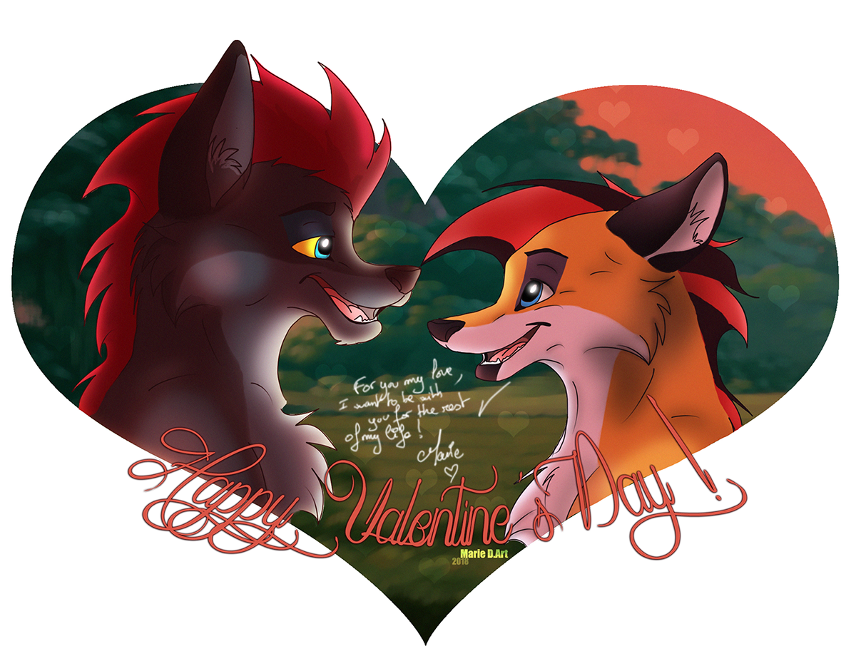 Dessin Happy Valentine's Day ! de MarieDArt