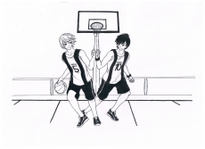 Dessin Basket entre ami de Aokiro