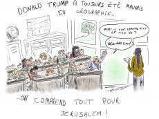 Dessin Trump et la géographie de Boutade_illustre