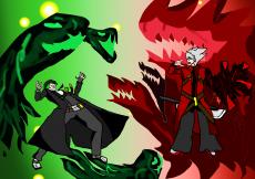 Dessin Ragna et Hazama de Crimson