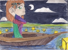 Dessin Perso sur barque de Lou