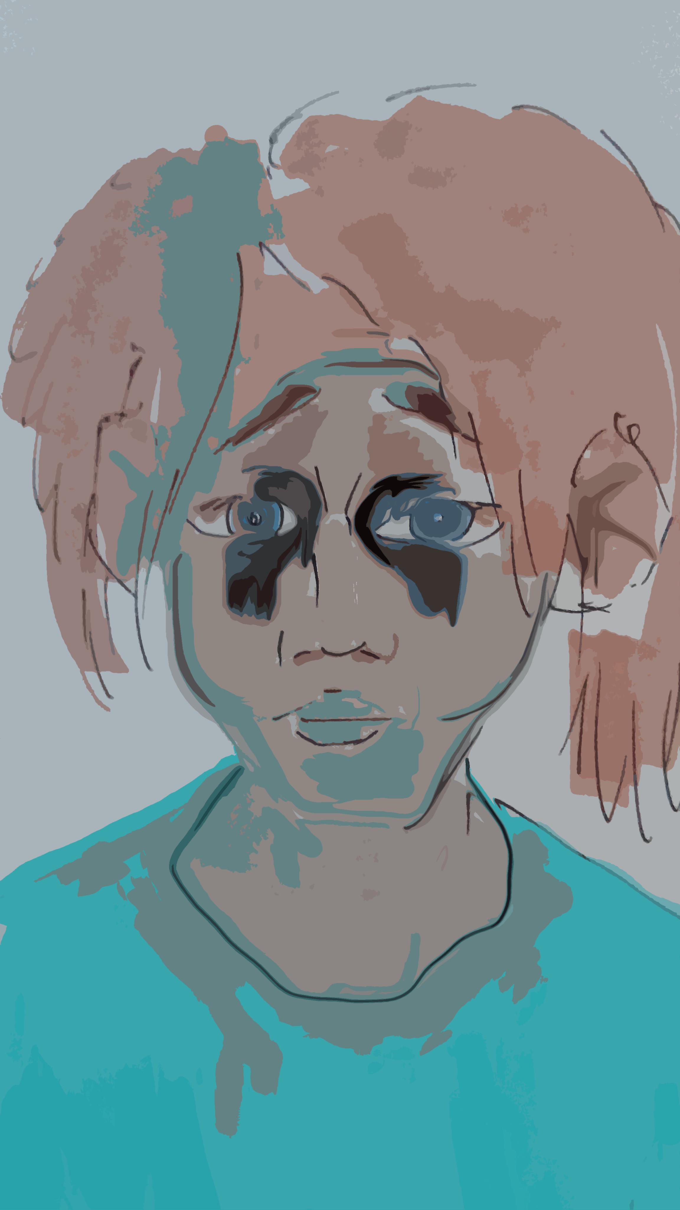 Dessin Tristesse bleutée de Shinji789