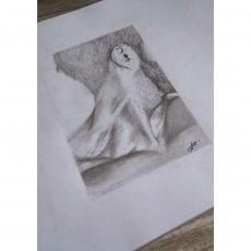Dessin Portrait d'un homme de profil de Melissafllt