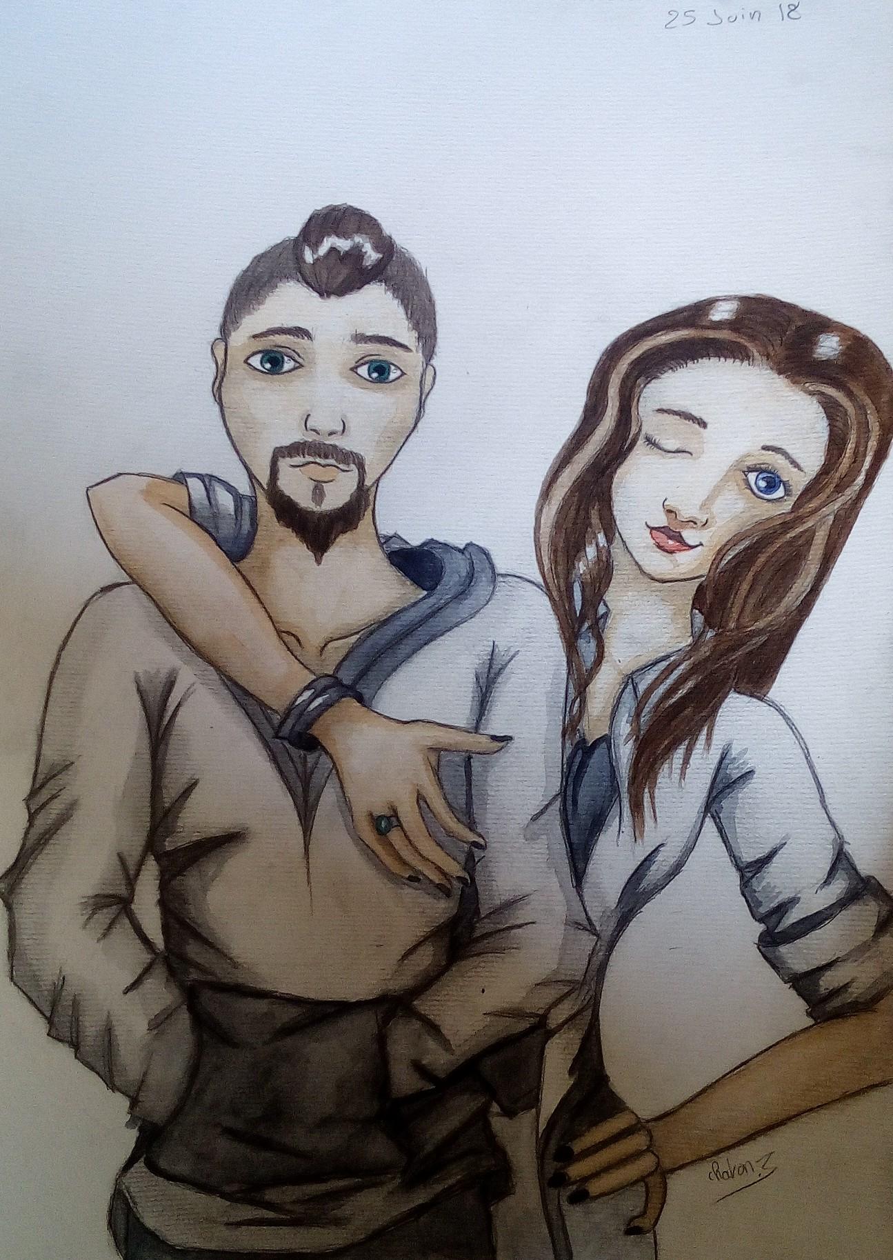 Dessin Couple de Chaton3005
