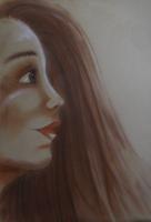 Dessin Portrait fusain de Chaton3005