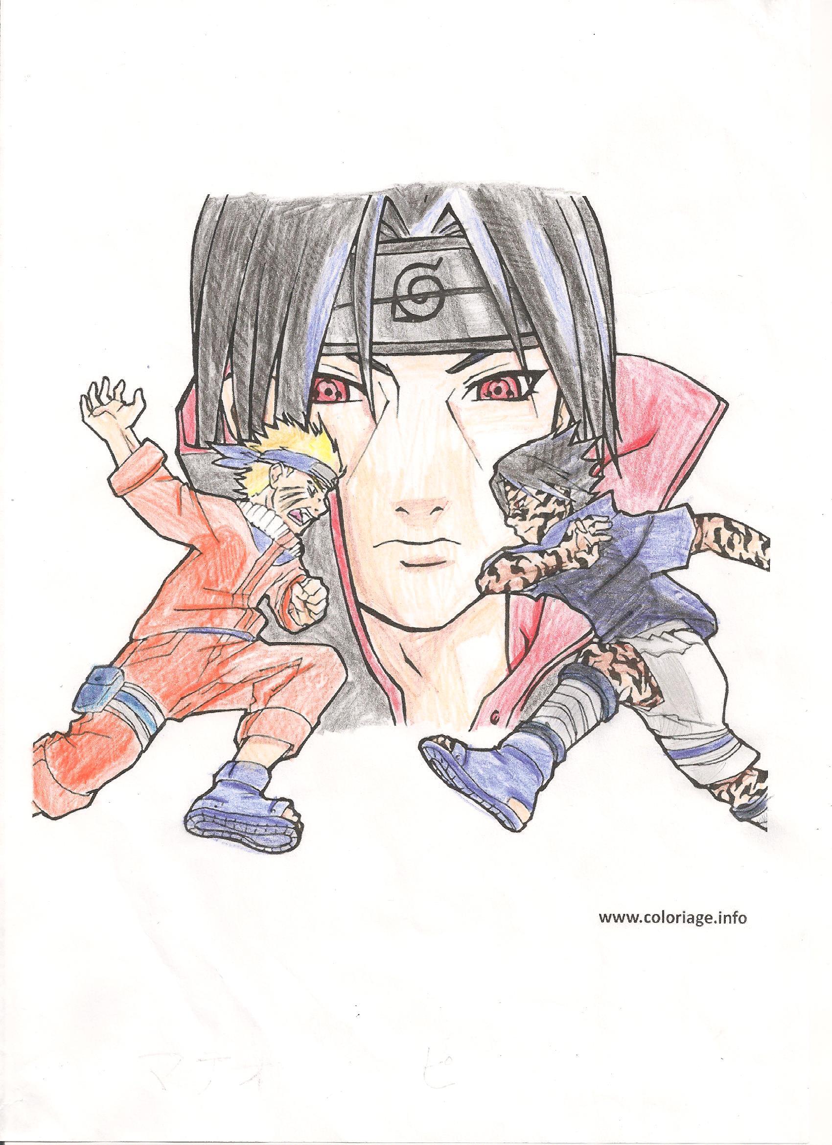 Dessin Itachi Sasuke Et Naruto Pencildrawing Fr