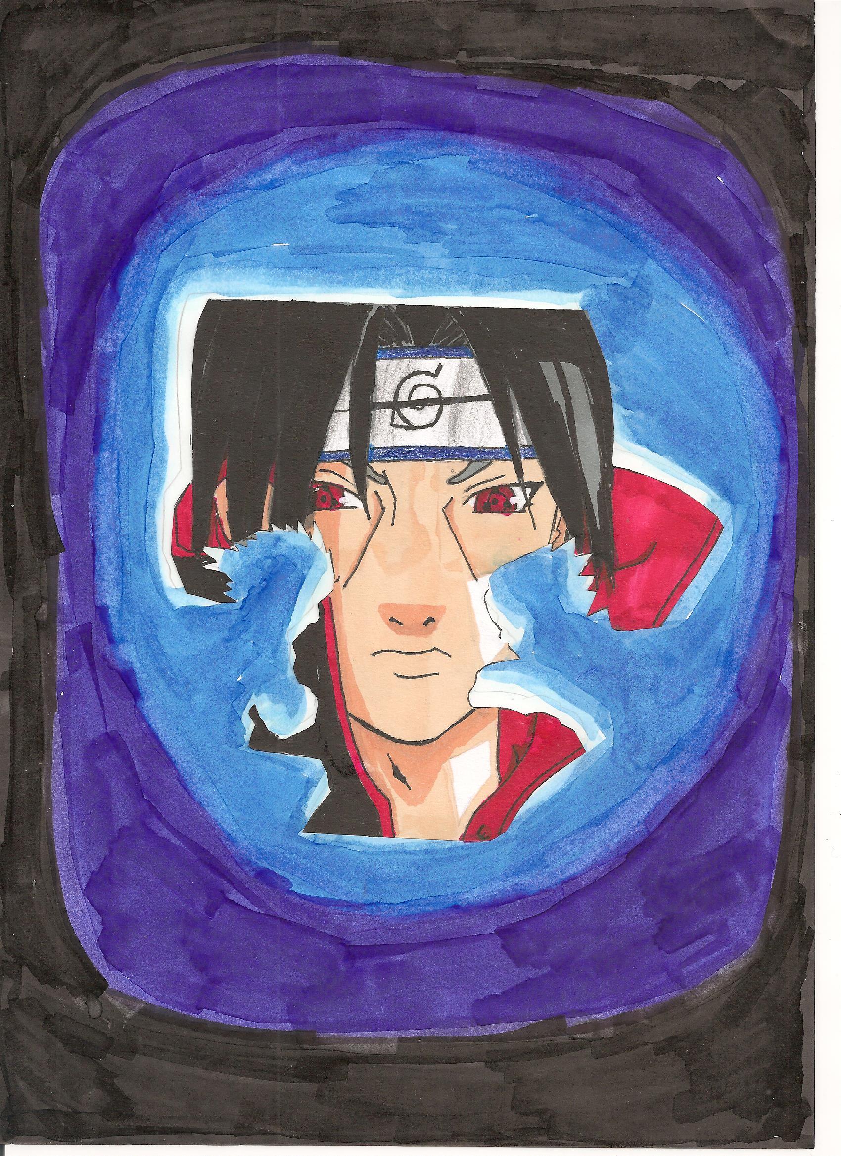 Dessin Itachi,Sasuke et Naruto de Kizla