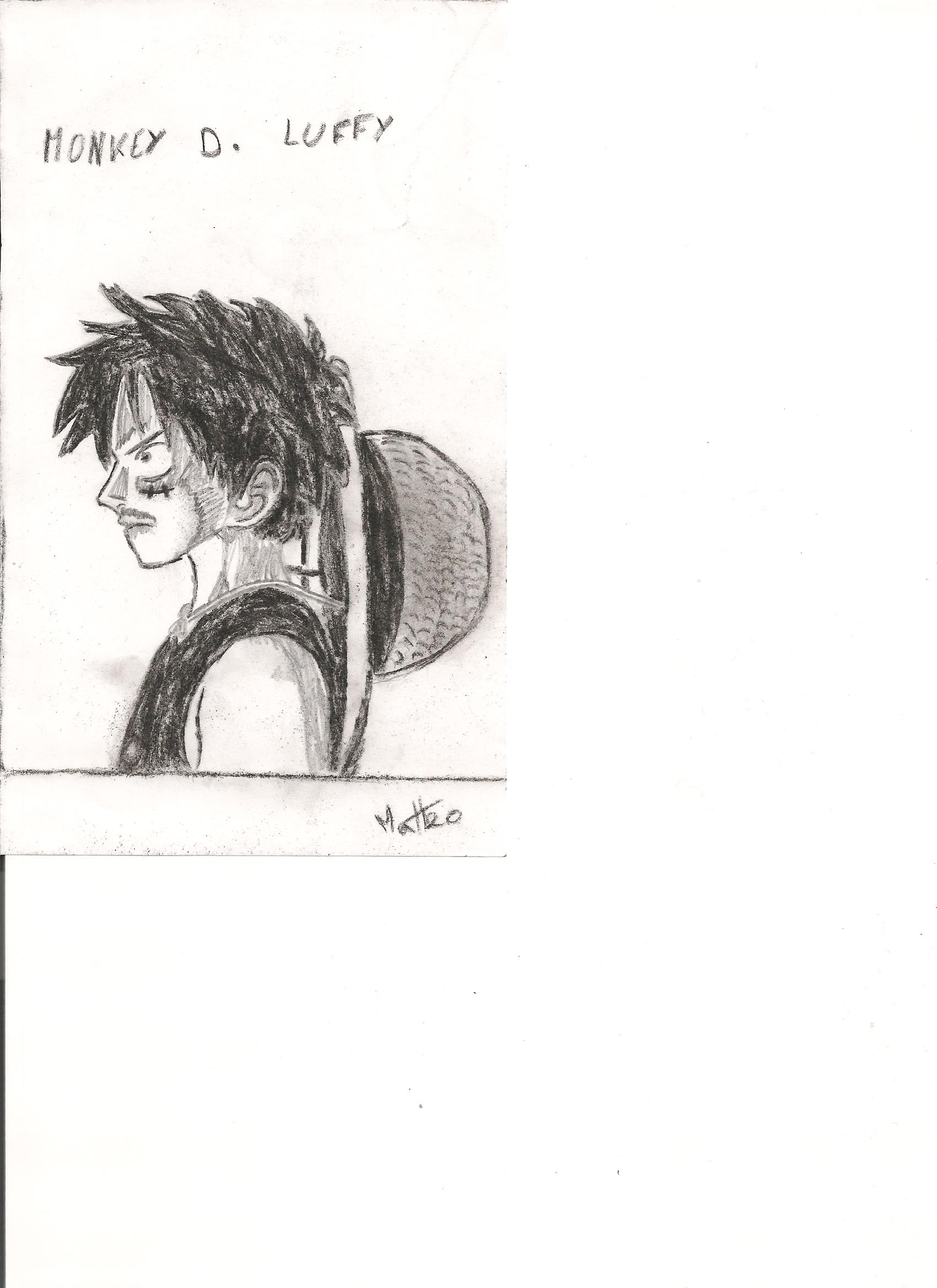 Dessin Monckey .D. Luffy de Kizla