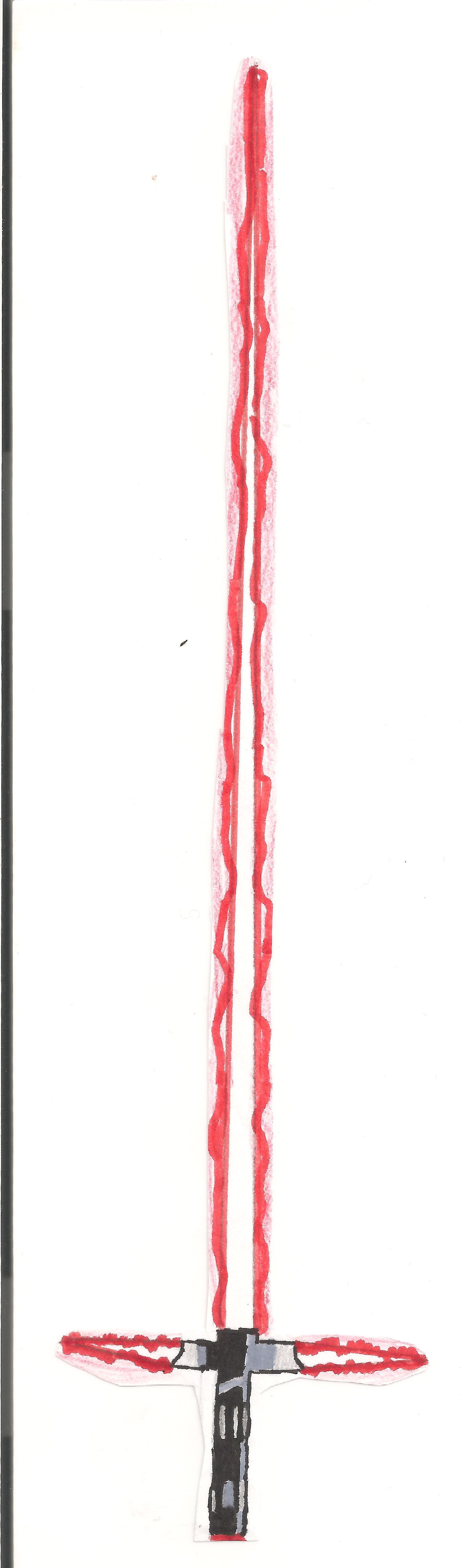 Dessin Sabre laser de Kylo Ren de Kizla