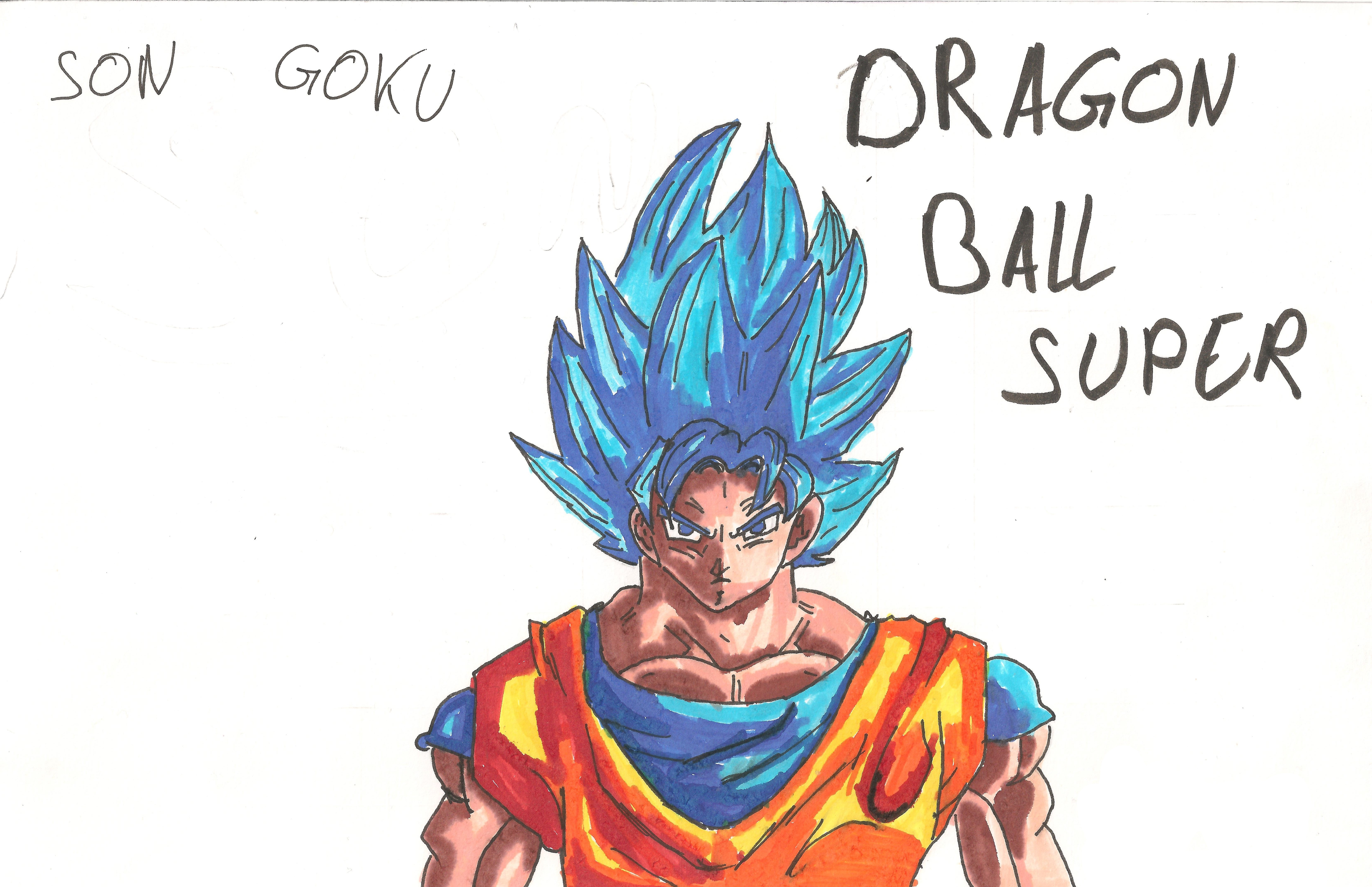 Dessin Son Goku super saiyan blue de Kizla