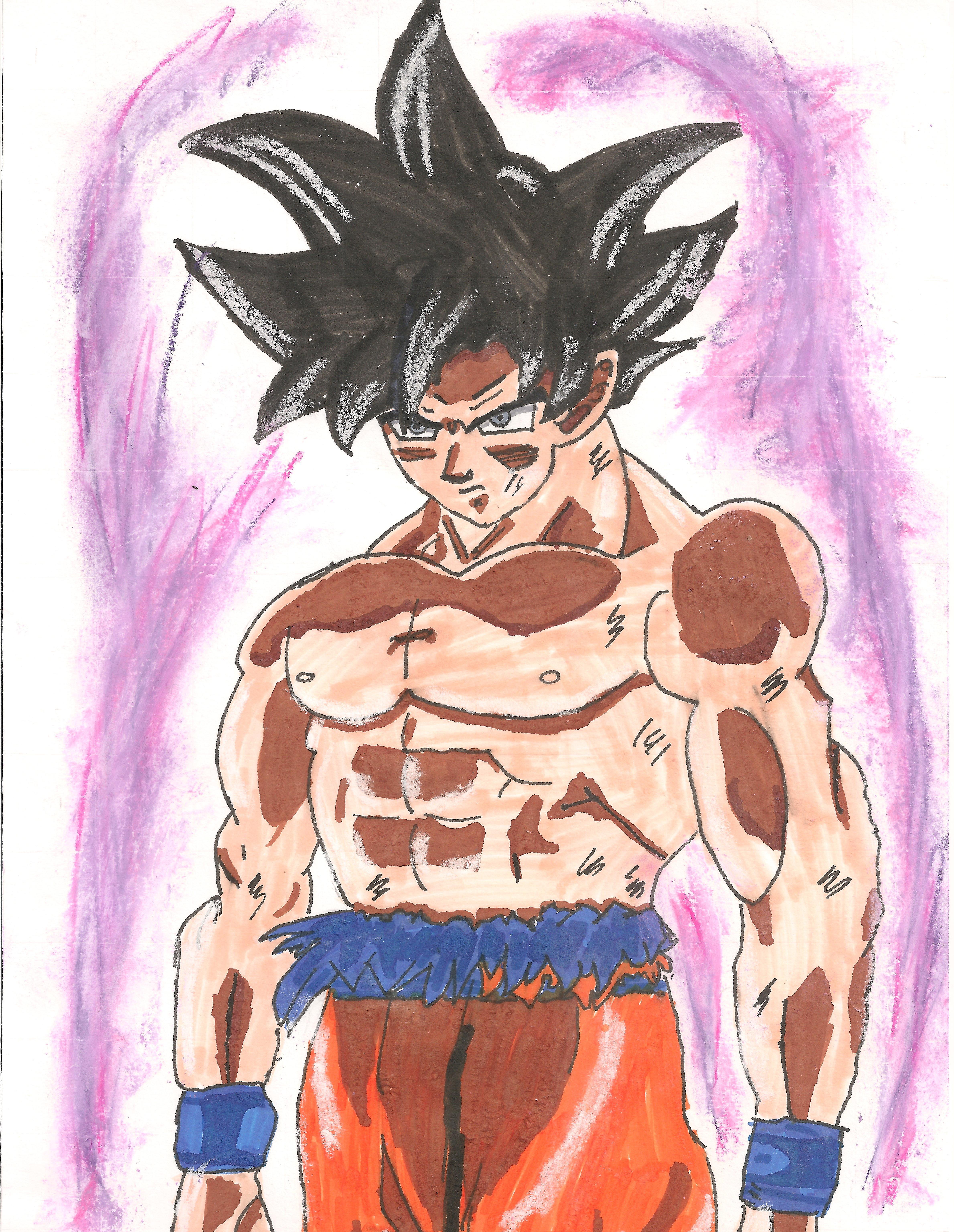 Dessin Son Goku ultra instinct de Kizla